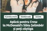 McDonald's Șelimbăr angajează personal