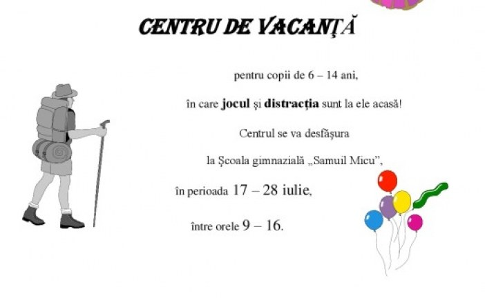 Centru de VACANTA
